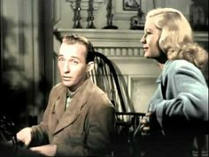 White Christmas. Yes, we hear it every year, but listen carefully to the lovely lyrics and imagine how our boys overseas must have dreamed of a snowy white Christmas. This is a photo from the very first Holiday Inn movie which was made in 1942. In this colourized version, Bing Crosby harmonizes beautifully with Marjorie Reynolds (dubbed by Martha Mears).