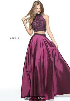 742a6ee83 Sherri Hill Two Piece Beaded Dress 51061. Vestidos Con Crop TopVestidos De  NocheVestidos ...