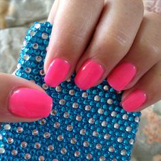 Summer nails :) ProGel Electric Pink