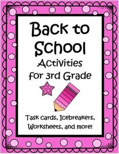 This 36 page set of worksheets, task cards, games, a writing activity, math activities and more will keep your kids busy learning the first week. These activities are great not only for student learning, but to provide you as a teacher, a simple way to get to know the kids, while allowing them to get to know one another, and helping them make the transition to a new classroom. Love this for Back to School! $