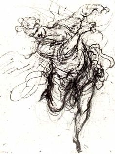 This Daumier drawing of a woman is a classic example of line quality at work. This untitled artwork is communicated vividly by the scribbling agitating lines. A recoiling movement is suggested by the variety of line weight.
