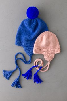 Basic Hats For Everyone In New Colors! | Purl Soho Flap Hat, Pom Pom Maker, Purl Soho, Perfect Marriage, Ear Hats, Circular Needles, Tea Cakes, Stockinette, Brim Hat