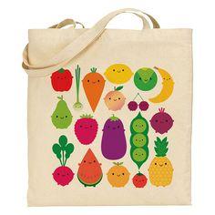 Five A Day Tote Bag kawaii