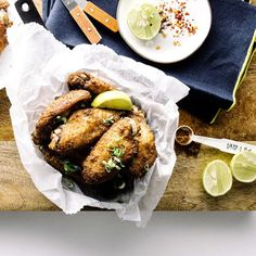 These crispy oven-baked chicken wings are tossed in a savory five spice marinade for flavor that can Crispy Oven Baked Chicken, Baked Chicken Wings, Chicken Wing Recipes, Simply Organic, Gluten Free Chicken, Organic Recipes, Spices, Cooking