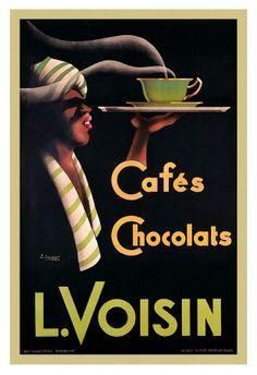 L. Voisin Cafes & Chocolats, 1935 Affiches par Noel Saunier sur AllPosters.fr