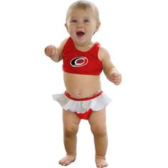 Young Caniacs would look great at the beach in this bathing suit. #IsItOctoberYet?
