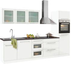 Küche ohne elektrogeräte planen  Küchenzeile »Montana Glanz«, inkl. Elektrogeräte, Breite 300 cm ab ...