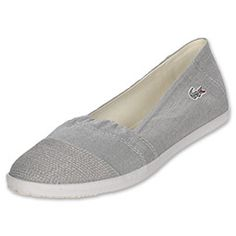 The Lacoste Avron Women's Casual Shoes are the perfect versatile summer shoes! Soft canvas uppers are so comfortable on your feet. Simple, slip-on traditional espadrille style stitched details add style and interest. The classic Lacoste crocodile easily completes the relaxed shoes.