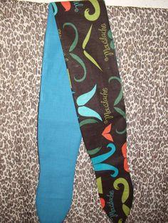 Moustache print Rockabilly  Pin up style Headwrap by BodyAllOver, $9.00