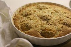 Яблочный пирог из кексового теста