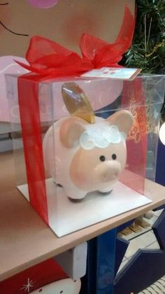 Pig Bank, Personalized Piggy Bank, Money Box, Crafty Projects, Ceramic Pottery, Cool Toys, Washi, Baby Gifts, Diy And Crafts
