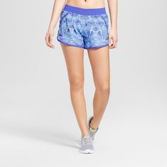 Women's Fashion Run Shorts - Steel Blue Print S - C9 Champion