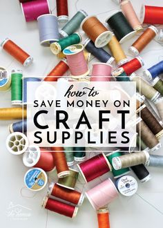 Love to craft but hate spending money on craft supplies, fabric and notions? Learn how to save money on craft supplies with these smart and easy tricks! Diy Craft Projects, Sewing Projects, Diy Crafts, Sewing Ideas, Craft Items, Craft Stores, Scrapbook Supplies, Craft Supplies, Quick Crochet Patterns