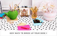 Desk & Desktop - A Multi-Purpose Home Office | Kate Spade New York