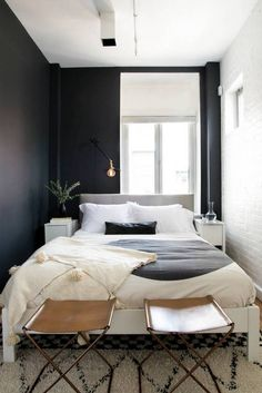black and white, sophisticated bohemian space.