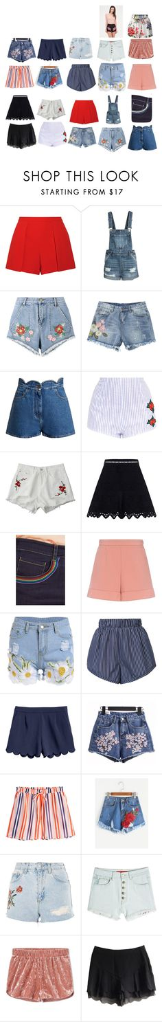 """Shorts wishlist"" by maggiedow ❤ liked on Polyvore featuring Alice + Olivia, House of Holland, Valentino, Zimmermann, RED Valentino, STELLA McCARTNEY, H&M, Diane Von Furstenberg, Topshop and Hilfiger Collection"
