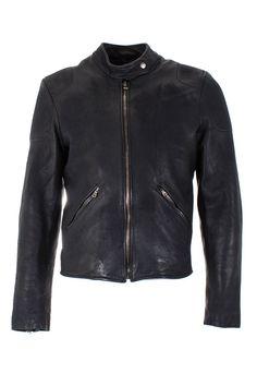 RH45 Rhodium | Leather Jacket Black | Mens Designer Leather Jackets | Boudi Fashion, 98 New Bond St. London W1S 1SN, United Kingdom | J840L