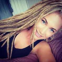 Blonde Dreadlocks! These look so matured and perfect