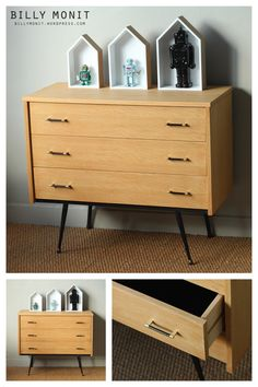 commode m tallique sur pinterest commodes commode grise. Black Bedroom Furniture Sets. Home Design Ideas