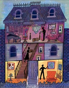 I used to love drawing haunted house this time of year when I was a kid-this reminded me of that-Gilbert Ford