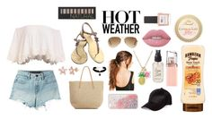 """Beach Day"" by creativeabby on Polyvore featuring T By Alexander Wang, Chanel, Target, Boohoo, Ray-Ban, River Island, Olivine, HUGO, Lime Crime and Forever 21"