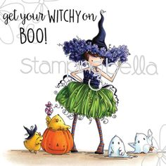 Tiny Townie Willow The Witch on www.addictedtorubberstamps.com