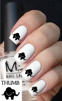 silhouette nail decals