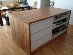 IKEA Kitchen Island with Drawers