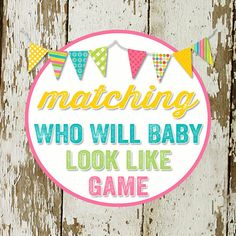 GUESSES who will baby look like  to match any by katiedidesigns, $8.00