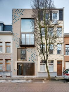 Puls architecten - Eggenstraat #materialisatie baksteen gevel woning patroon geglazuurd