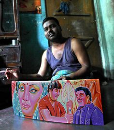 RickshawArt: original paintings from Bangladesh. : This store offers you an unique door to original colorful handicraft from Bangladesh. It's the only place to find rickshaw paintings on the web! You can buy the art that has been rolling in Dhaka streets on the back of the rickshaw for ages. Moreover, you'll be doing good. As a social business, we operate as a no-profit no-loss organization. The final profits will be given back to the artists through the Panther Social / Jaago rickshaw fund.