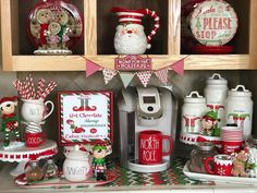 """🎄MAYRA🎄 on Instagram: """"❤️🎅🏻The best part of the morning to all those ☕️ lovers and hot cocoa fans! 🎅🏻❤️ The bar is always open here!! 🤗@magenta_inc @raedunn…"""" Whimsical Christmas, Merry Christmas To All, Christmas Elf, All Things Christmas, Vintage Christmas, Christmas Crafts, Christmas Decorations, Christmas Ideas, Christmas 2019"""
