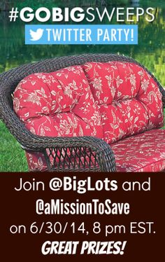 You're invited! Join our #GoBig #TwitterParty on 6/24 @ 8pm EDT for a chance to #win some prizes! #GoBigSweeps #sponsored