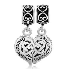 6ce4a4f21 Mother Daughter Charm Bracelets Heart Celtic Knot Beads Charms Pandora  Chamilia Compatible | Charmsstory.com