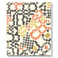 "Canvas (canvas-wrapped wood frame): 20""w x 24""l. - $199 - Sarah Campbell Wall Art - Modern Mosaic  #westelm"