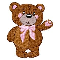 Free Machine Embroidery Desgisns - July 2015 Machine Embroidery Applique, Free Machine Embroidery Designs, Custom Embroidery, Machine Quilting, Quilt Patterns Free, Free Baby Stuff, Baby Quilts, Sewing Projects, Teddy Bear
