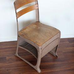 50's school chair. $50,00, via Etsy.