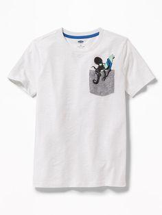 5a9858c0727c7 Old Navy Graphic Pocket Tee for Boys Kids Fashion Boy, Mens Fashion, Boys T