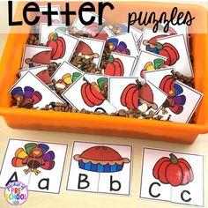 Thanksgiving activities and centers for preschool, pre-k, and kindergarten