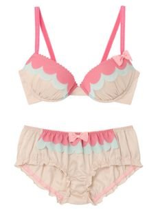 pink and pastels lingerie