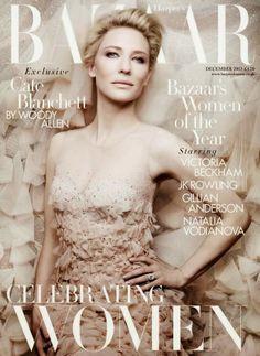 Cate Blanchett for Harper's Bazaar UK December 2013