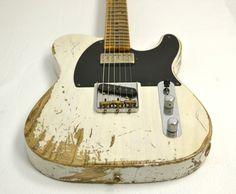 Fender Custom Shop 52 Telecaster Heavy Relic with Neck Humbucker White Blonde #R11533