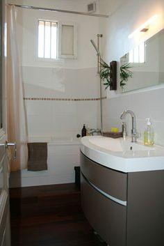 Le résultat:  Une salle de bain harmonieuse et esthétique, facile à vivre et optimisé pour un meilleur quotidien avec les enfants.