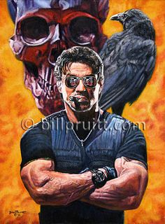Items similar to Sylvester Stallone The Expendables Barney Ross art print signed and dated Bill Pruitt on Etsy Stallone Schwarzenegger, Rocky Series, Predator Cosplay, Arte Do Hip Hop, Silvester Stallone, John Rambo, Caricature Artist, Rocky Balboa, The Expendables
