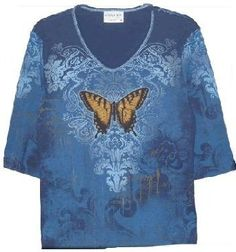 Cactus Bay Apparel Monarch Butterfly All Over Print Cotton T-Shirt $30.99
