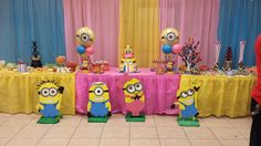 pink minions Birthday Party Ideas | Photo 10 of 15 | Catch My Party