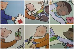 Jules dokter - logische volgorde verhaal Body Preschool, How To Make Comics, A Comics, Special Education, Projects To Try, Family Guy, Kids, Fictional Characters, Doctors