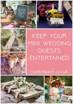 keep your mini wedding guests entertained all day long