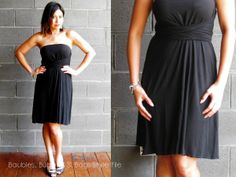 Convertible pieces - Intimo skirt/dress - worn as a strapless dress with a tie underneath the bustline.