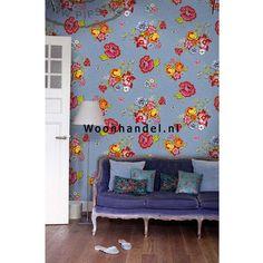 386120 Bunch of Flowers Eijffinger Posterbehang Pip Boeket Bloemen Blauw - Woonhandel